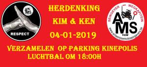 Herdenking voor Kim en Ken    04 jan  2019